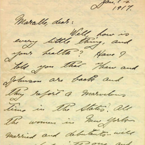 McConnell letters. January 7, 1917, p.1