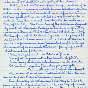 McConnell documents. Marcelle Guérin. Memoir, p.3