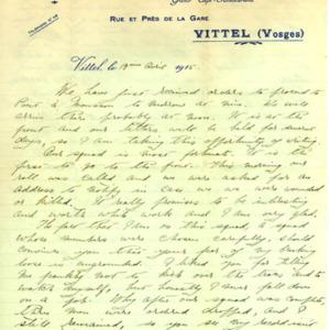 McConnell letters. April 19, 1915, p.1
