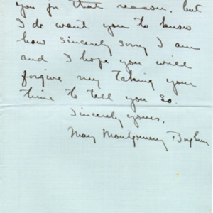 McConnell letters. June 16, 1919. Mary Borglum to Alderman, p.3
