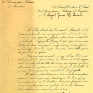 McConnell documents. Letter of commendation from&lt;br /&gt;<br />