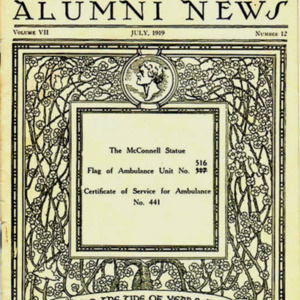 McConnell documents. Cover of the University of Virginia Alumni News, July 1919