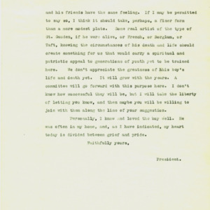 McConnell letters. March 28, 1917. Alderman to Follansbee, p.2