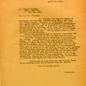 McConnell letters. April 10, 1919. Alderman to Borglum