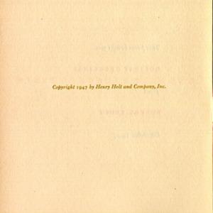 One Step Backward Taken, Half-title Verso