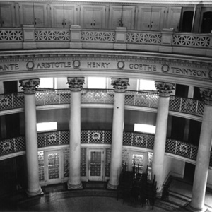 Interior, circa 1940 after Library was moved to Alderman