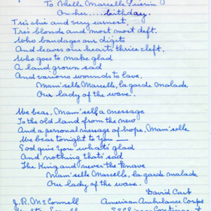 McConnell documents. Marcelle Guérin. Memoir, p.8
