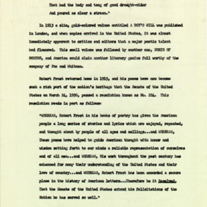 Introduction of Robert Frost, final page 3