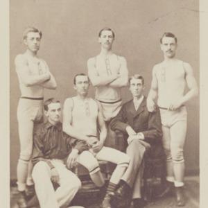 Photograph of University of Virginia crew team. 1882.