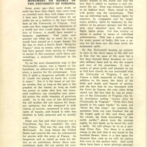 McConnell documents. University of Virginia Alumni News, July 1919, p.252