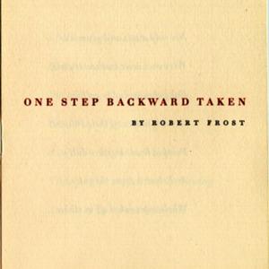 One Step Backward Taken, Title Page