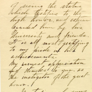McConnell letters. May 18, 1919. Sarah McConnell to Alderman, p.2