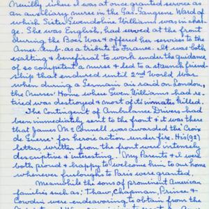 McConnell documents. Marcelle Guérin. Memoir, p.9