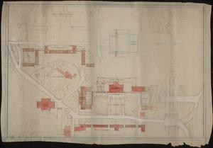 Plan for proposed Peabody Hall Quadrangle, ca. 1928