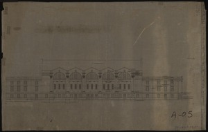 East elevation of Memorial Gymnasium