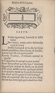 Marot. Blasons (1543), p.A vii recto
