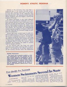 Virginia Women's Athletics. 1975, 1978.<br /><br /> <br /><br />