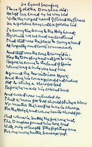 A Boy&amp;#039;s Will &lt;br /&gt;<br /> Autograph Manuscript, fair copy