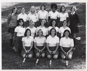 Photograph of U.Va. field hockey team. 1973.