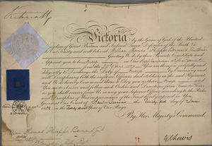 Commission signed by Queen Victoria