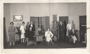 Production photograph of the Virginia Players' staging of Rollo's Wild Oat