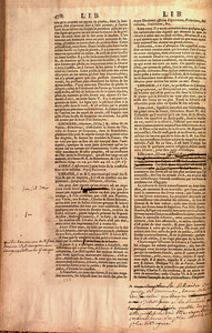 Proof pages of articles from the Encyclopédie