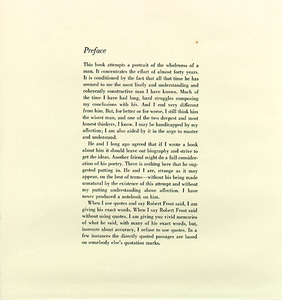 A Swinger of Birches, Preface