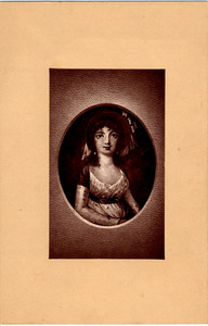 Photograph of miniature of Elizabeth Arnold Hopkins Poe
