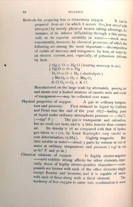 J. W. Mallet. Syllabus of a Course of Lectures on General Chemistry. Charlottesville: Geo. W. Oliver, 1890.