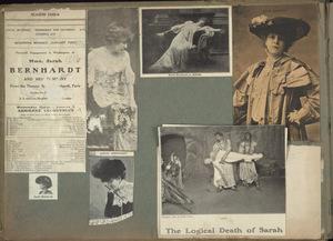 A scrapbook of theatrical playbills and memorabilia