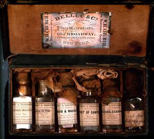 Civil War medicine case