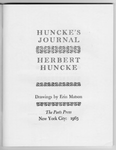 Huncke's Journal