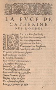 C. Des Roches. La puce ... Flea encomium