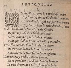 Du Bellay. Antiquitez de Rome, p.52 verso