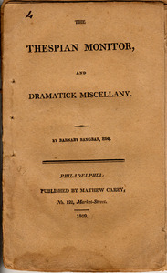 The Thespian Monitor, and Dramatick Miscellany