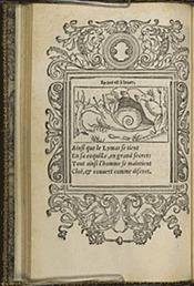 Corrozet. Hecatongraphie, p.D3 verso