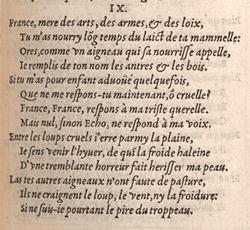 Du Bellay. Les regrets ... p.6