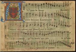Primo libro de la canzoni francese, frontispiece 1