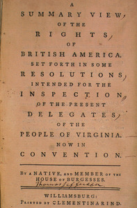 Summary View of the Rights of British America