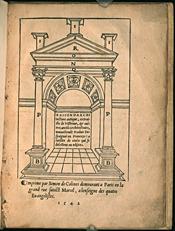Sagredo. Raison darchitecture antique (1542)