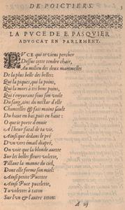 Etienne Pasquier. La puce de Madame Des-Roches