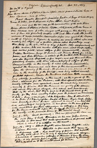 [Parker, Richard.] Autograph manuscript. Notes on the trial of John Brown and his associates. 25 October-14 November 1859.