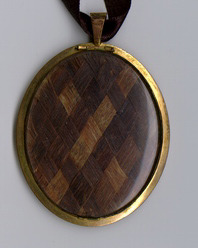 Locket containing George and Martha Washington's hair