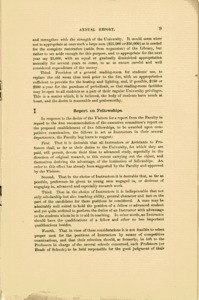 Annual Report of the Faculty&lt;br /&gt;<br />