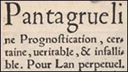 Rabelais. Prognostication, from t.p.