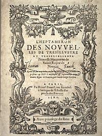 Marguerite. L'Heptaméron.Title page