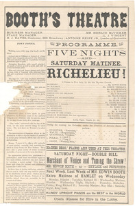 Richelieu! A Drama in Five Acts I