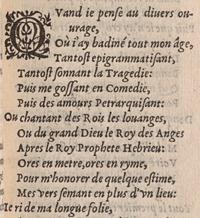 Jean Antoine de Baïf. Les mimes. Liv. I, p.26