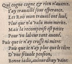 Jean Antoine de Baïf. Les mimes. Liv. I, p.26 verso