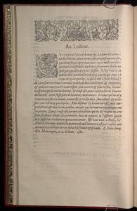 Michel de Montaigne. Essais (Abel L'Angelier, 1595). Au Lecteur